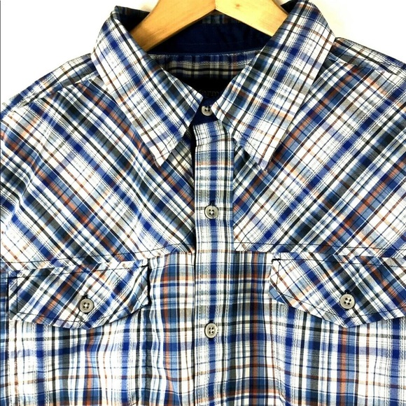 Marmot Other - Marmot Riggs Navy Plaid UPF 40 S/S Shirt